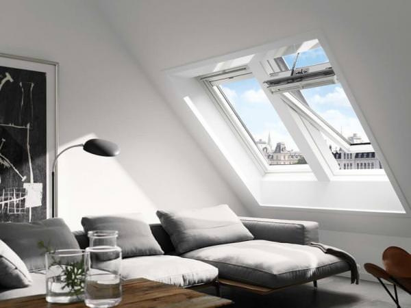 VELUX Solar Dachfenster GGL 217030 Holz weiß lackiert INTEGRA THERMO Kupfer
