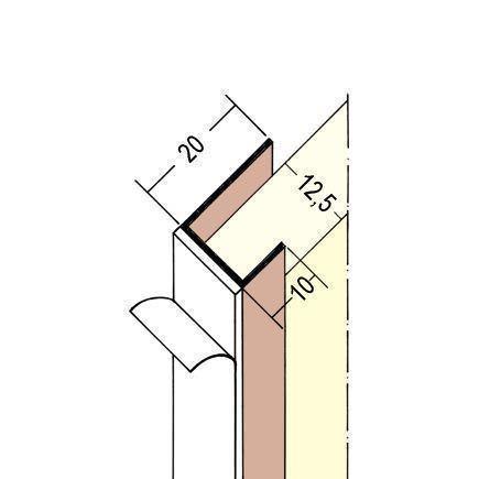 Prima PVC-Einfassprofil selbstklebend Nr. 3735 L 250 cm, 20x12,5x10 cm