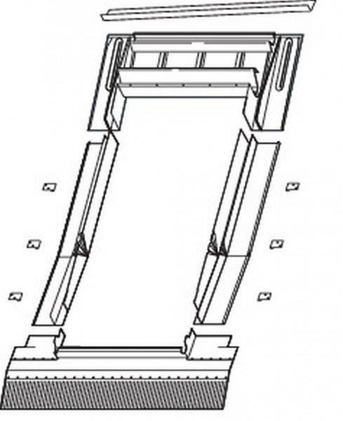 Roto EDR Rx ZIE Eindeckrahmen Ziegel/Pfanne wärmegedämmt Kupfer